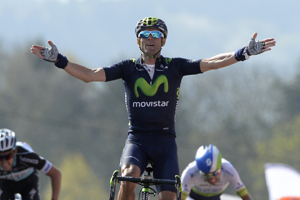 Valverde wins the Flèche Wallonne