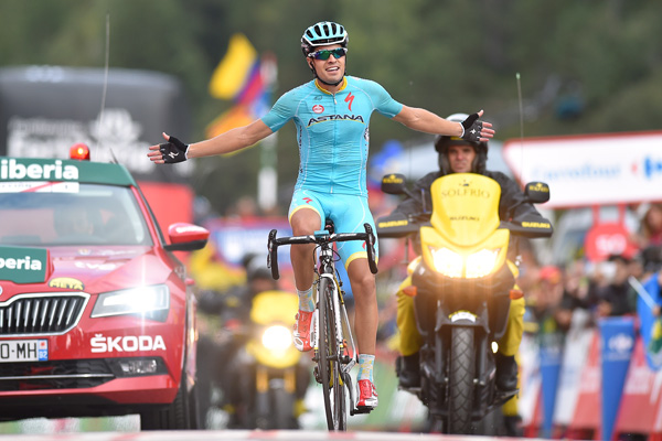 Fabio Aru is the new leader of the Vuelta