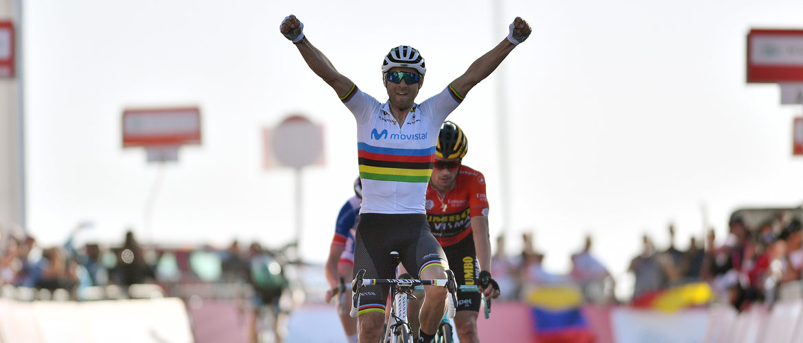 Valverde claims first win as World Champion