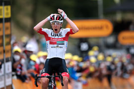 Pogačar claims Tour de France stage 9
