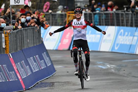 Dombrowski takes solo victory at Giro D'Italia stage 4