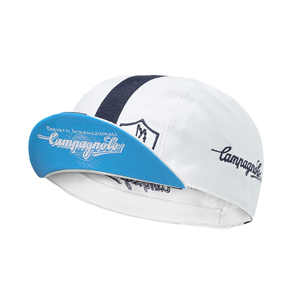 White Campagnolo cycling cap - Classic Edition