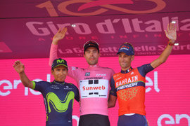 Nairo Quintana finishes 2nd overall in Giro d'Italia