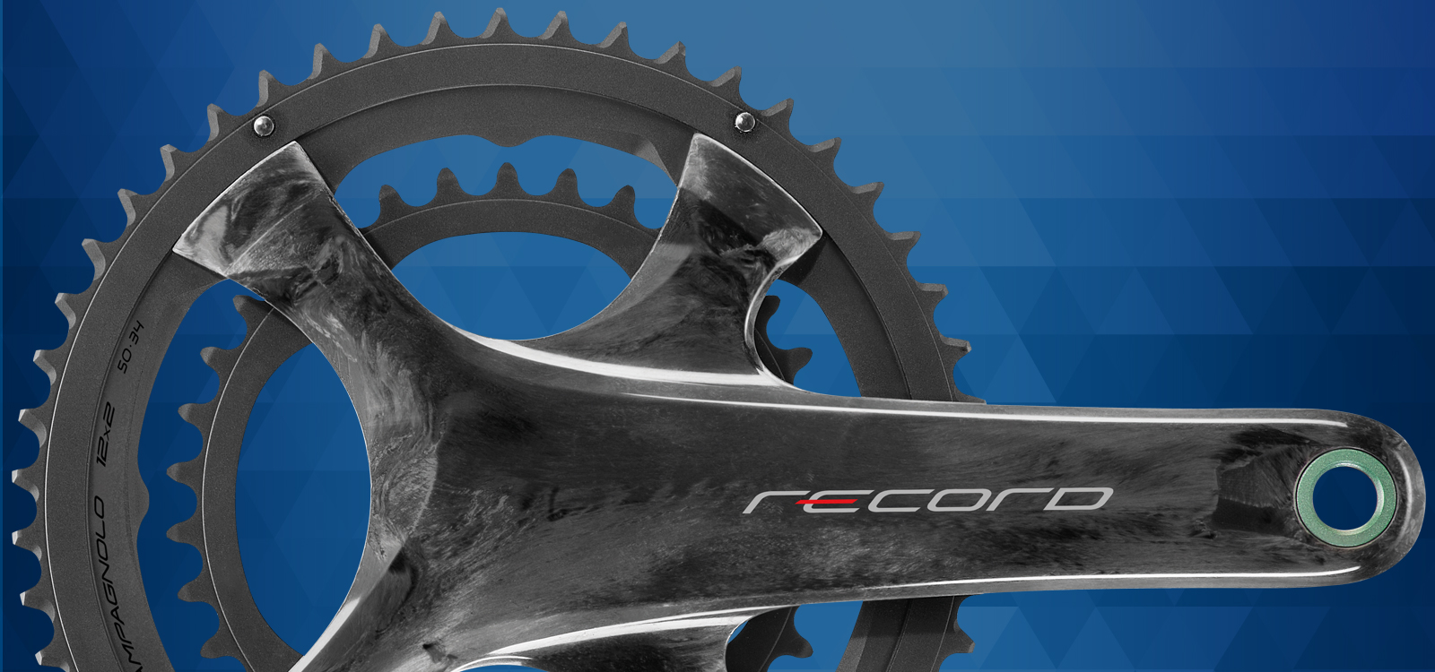 Record 12x2 Speed crankset - banner