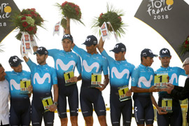 Il Team Movistar torna sul podio di Parigi