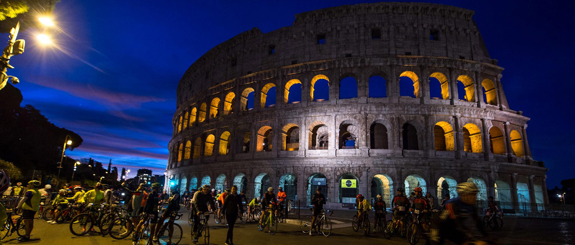 The fifth edition of the Granfondo Campagnolo Roma gets underway